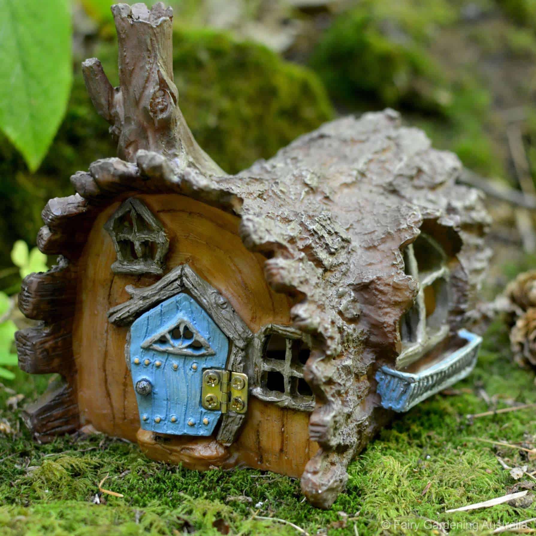 Fiddlehead log house australia 39 s leading fairy garden shop for Outdoor fairy doors australia
