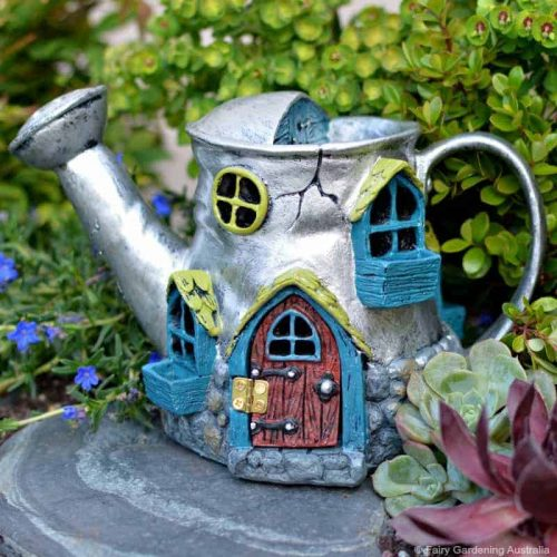 Fiddlehead Watering Can Fairy Home