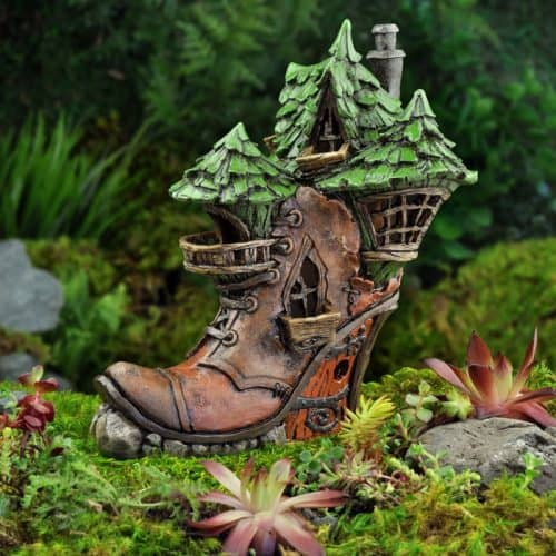 Fiddlehead Witchy Boot Fairy House