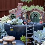 Brick fairy house. Fiddlehead Collection by Fairy Gardening Australia