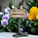 """Shh.. Fairies Sleeping"" Fairy Garden Sign"
