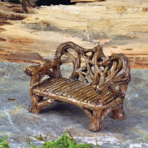 Twig Bench, Brown, Miniature