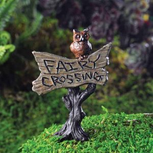 """Fairy Crossing"" Owl Sign"
