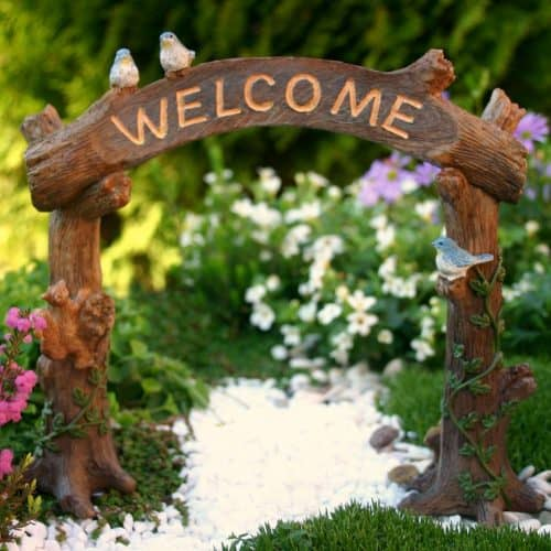 Fairy Garden Welcome Sign Arch