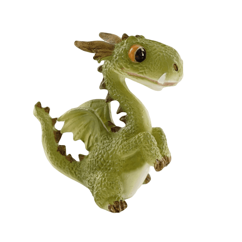 Dragon, upright miniature