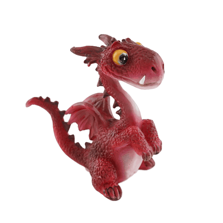 red upright dragon