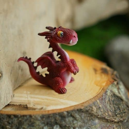 upright design miniature dragon