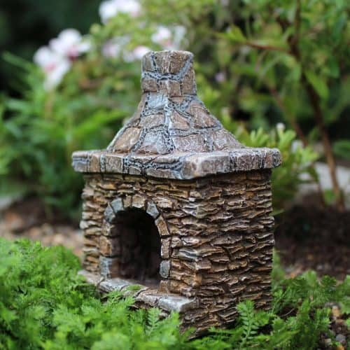 chimney, miniature outdoor stone design