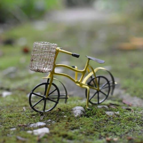 Bicycle with Basket – Yellow
