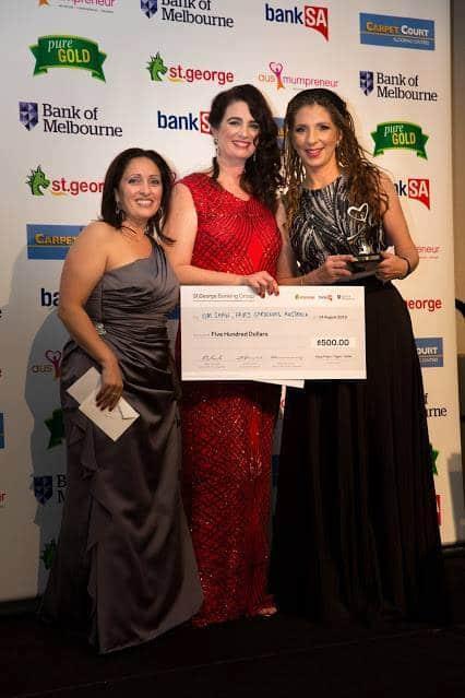 Kim Shaw and Peace Mitchell, 2016 Ausmumpreneur Awards
