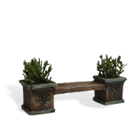 Tree Bench with Planters