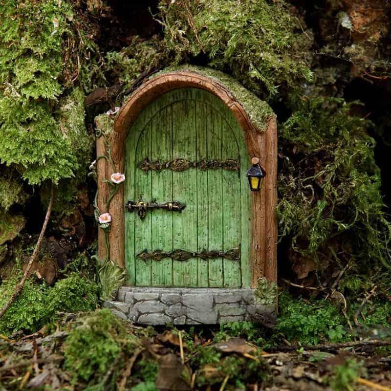 Mystical green fairy door fairy gardening australia for Outdoor fairy doors australia