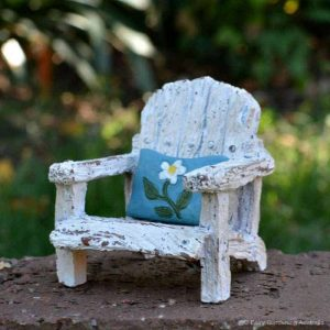 Chair with Blue Pillow