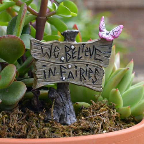 """We Believe in Fairies"" Butterfly Sign"