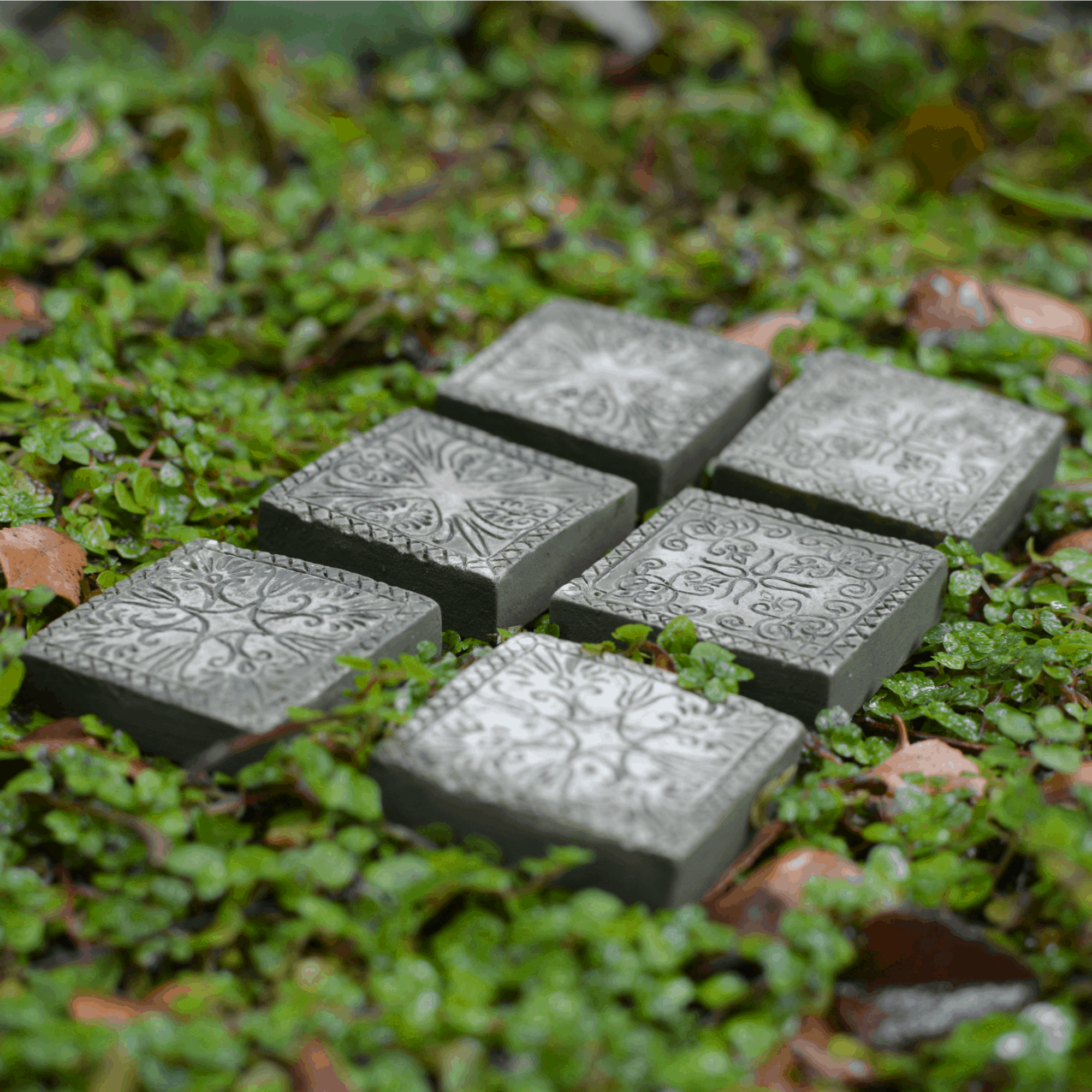 ornate fairy garden stepping stones