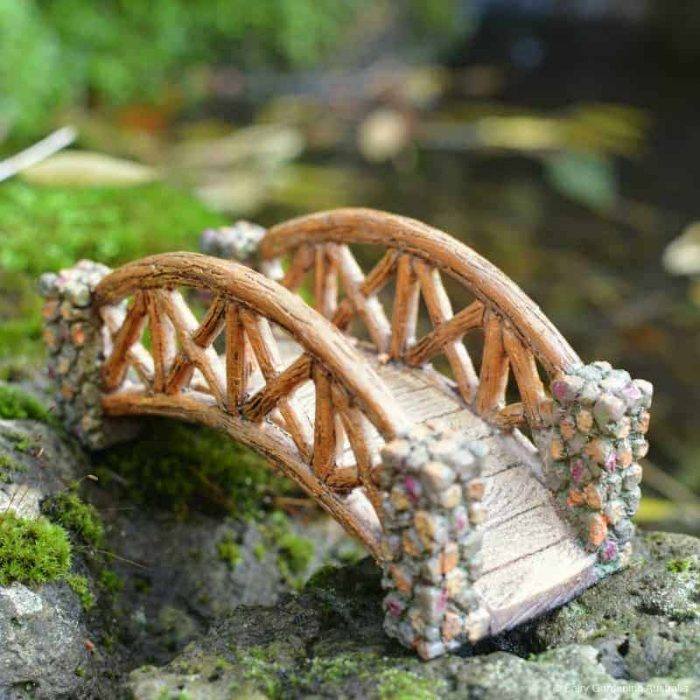 Fairy gardening bridge