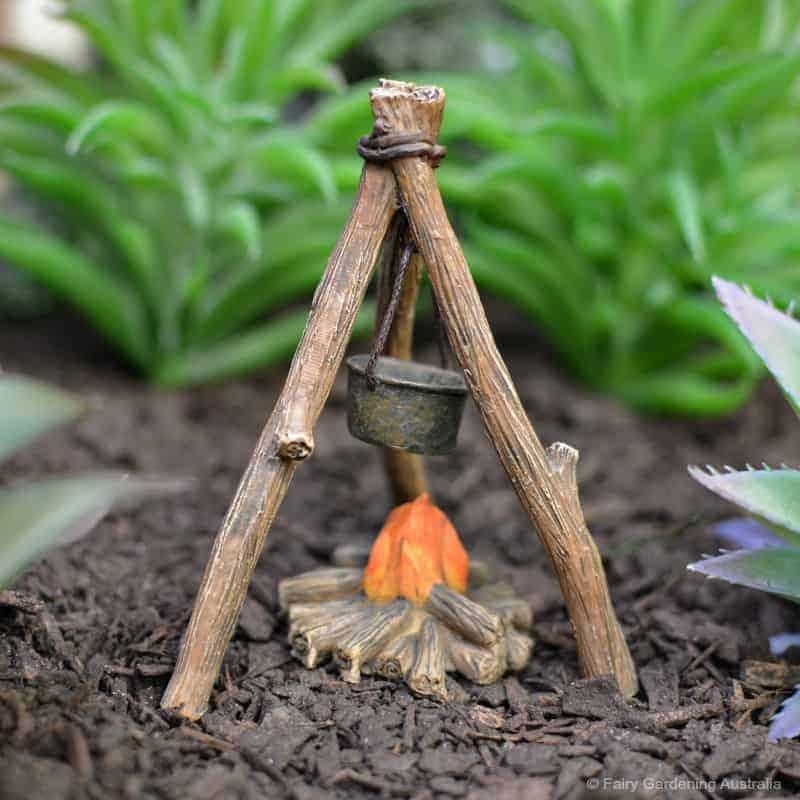 Fairy garden campfire