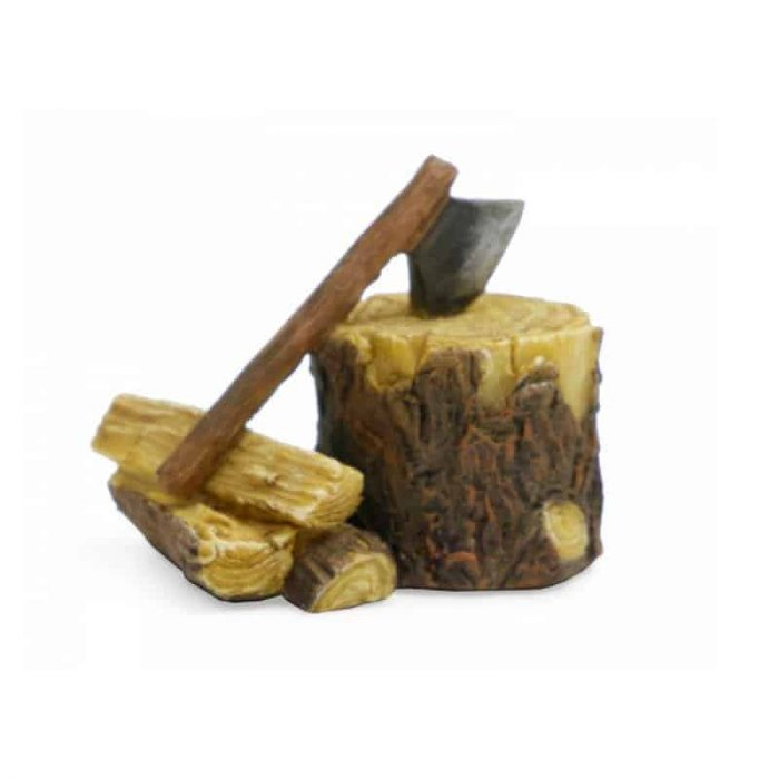 Axe and Firewood ornament