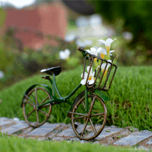 Bicycle with Wire Basket – Green