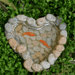 Heart Pond with Koi