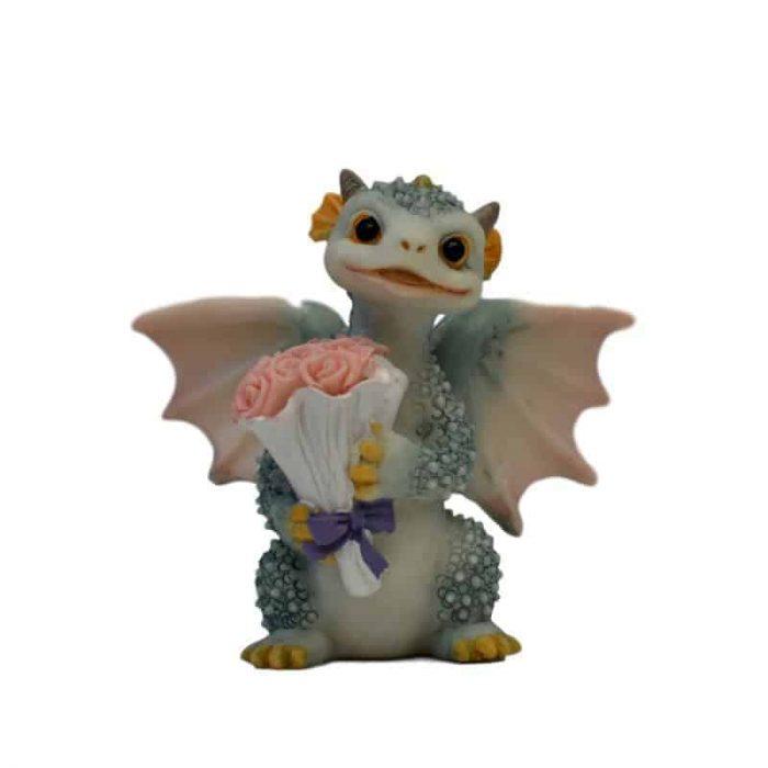 Blue dragon for fairy garden