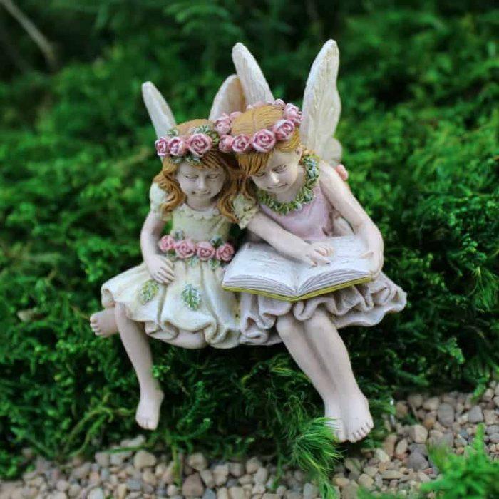 sitting fairies for fairy garden