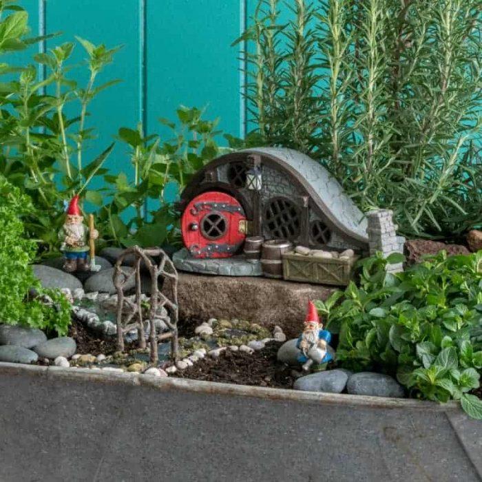 Hobbit style fairy garden kit
