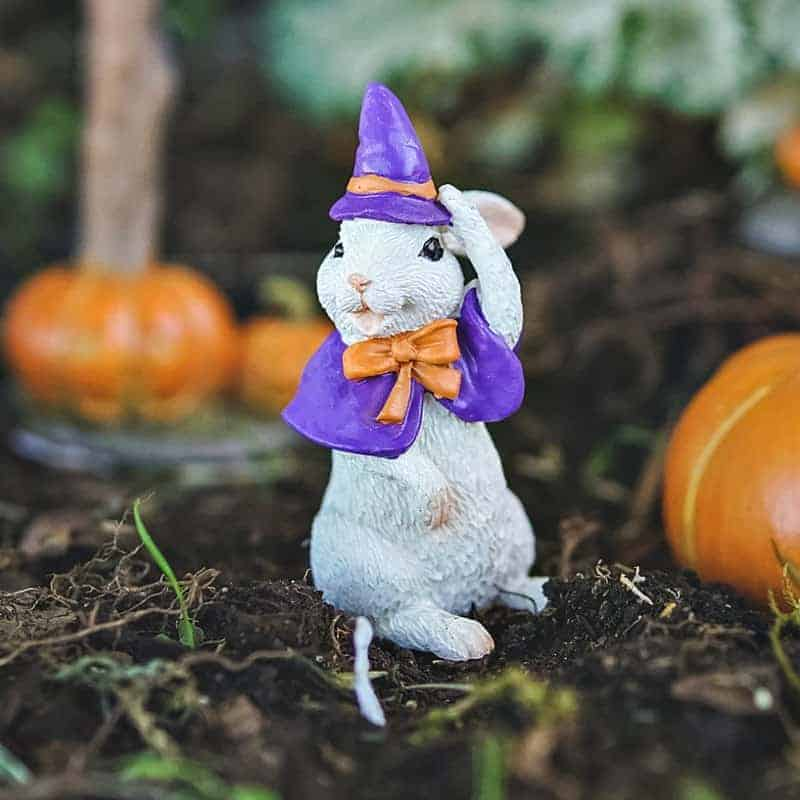 fairy garden bunny witch