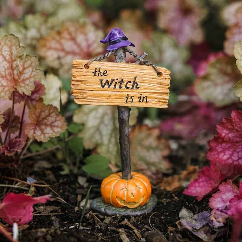 spooky themed miniature sign