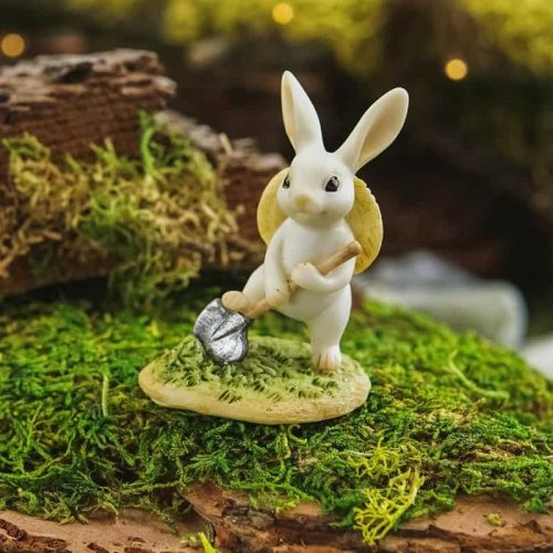 Bunny Gardener Digging
