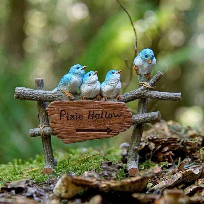 fairy garden sign, pixie hollow