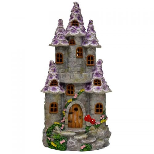 Purple Flower Fairy Castle – Solar