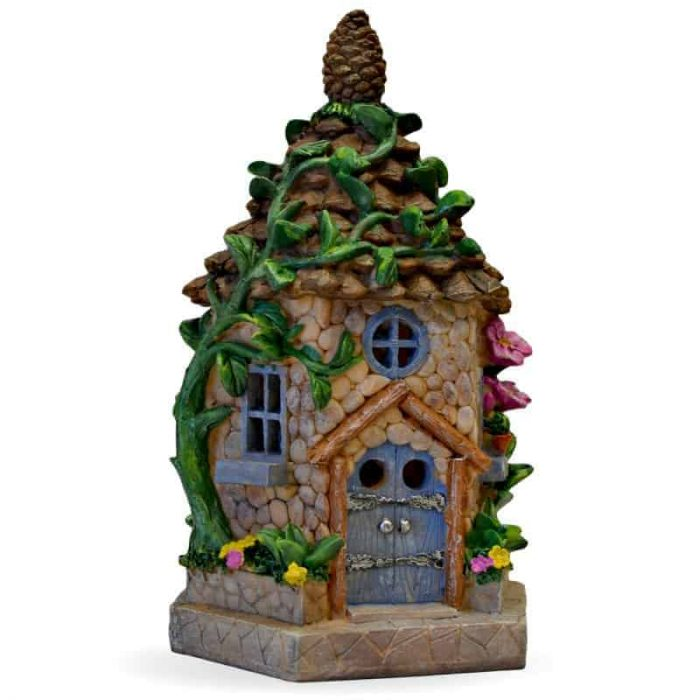 Pine Cone Cottage, Solar Fairy House