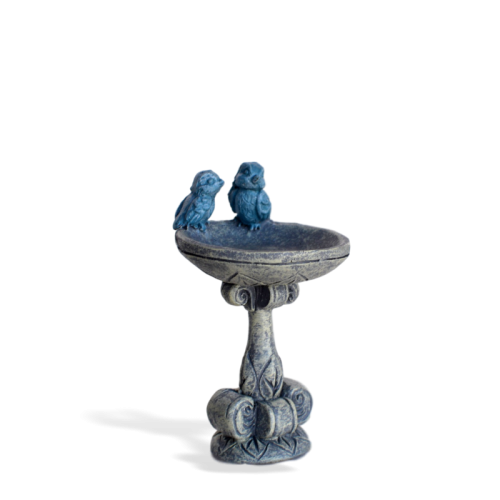 Blue Bird Pair Bird Bath