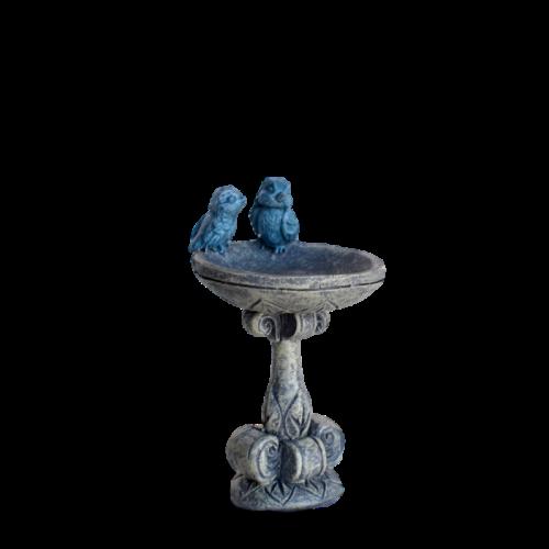 Blue Bird Pair Bird Bath