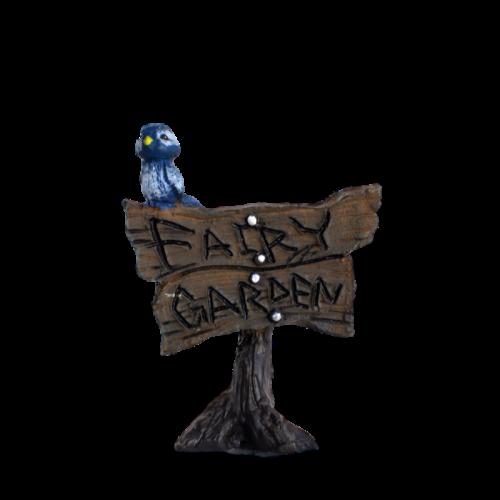 """Fairy Garden"" Blue Bird Sign"