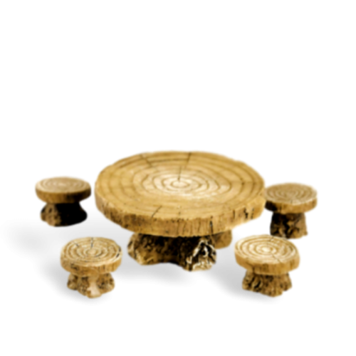 Woodland Table and Stool Set