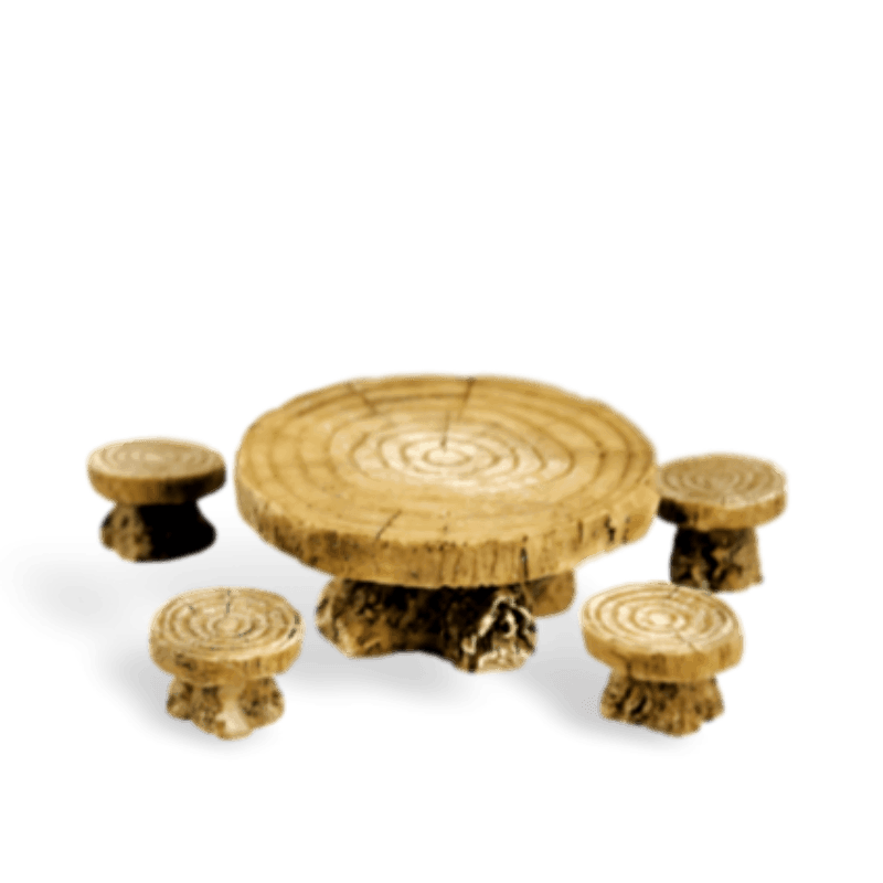 Table and Stools_16512