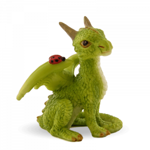 Sitting Dragon with Ladybug/Green