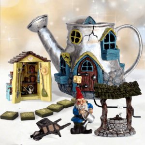 Silver Water Fairy Garden Kit
