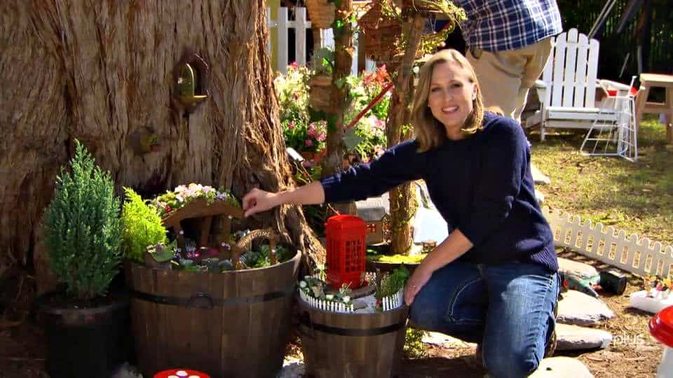 fairy garden makeover at base of tree