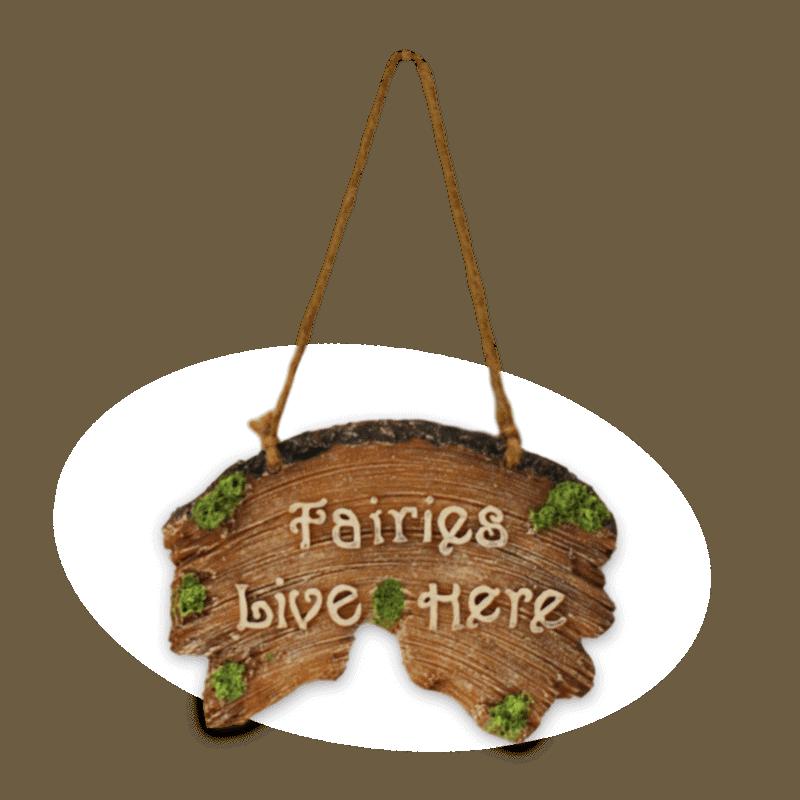 Fairies Live Here Plaque