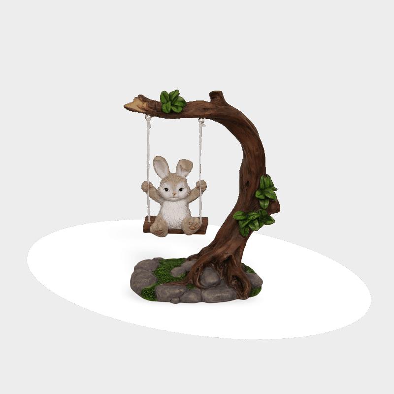 bunny-on-swing