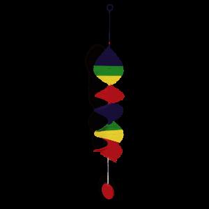 Rainbow Spiral Mobile
