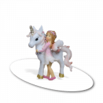unicorn with pink flower fairy