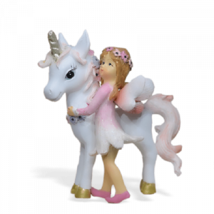 Unicorn with Flower Fairy – Pink