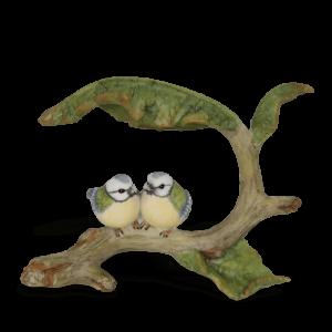 Birds Under Leaf