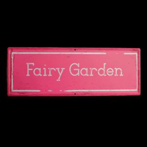 Fairy Garden Sign – Pink
