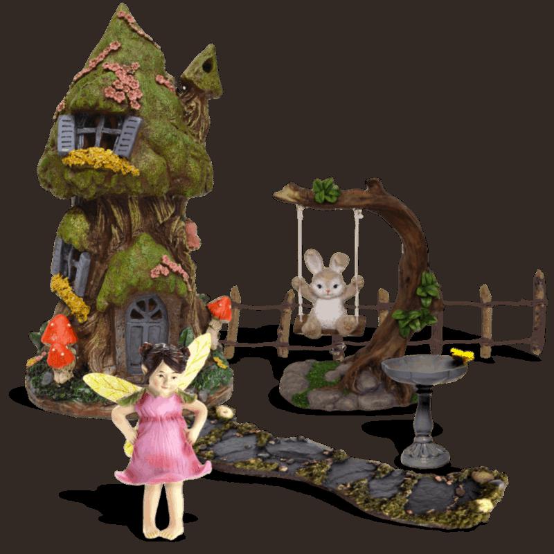 Marigold Burrow Fairy Garden Kit