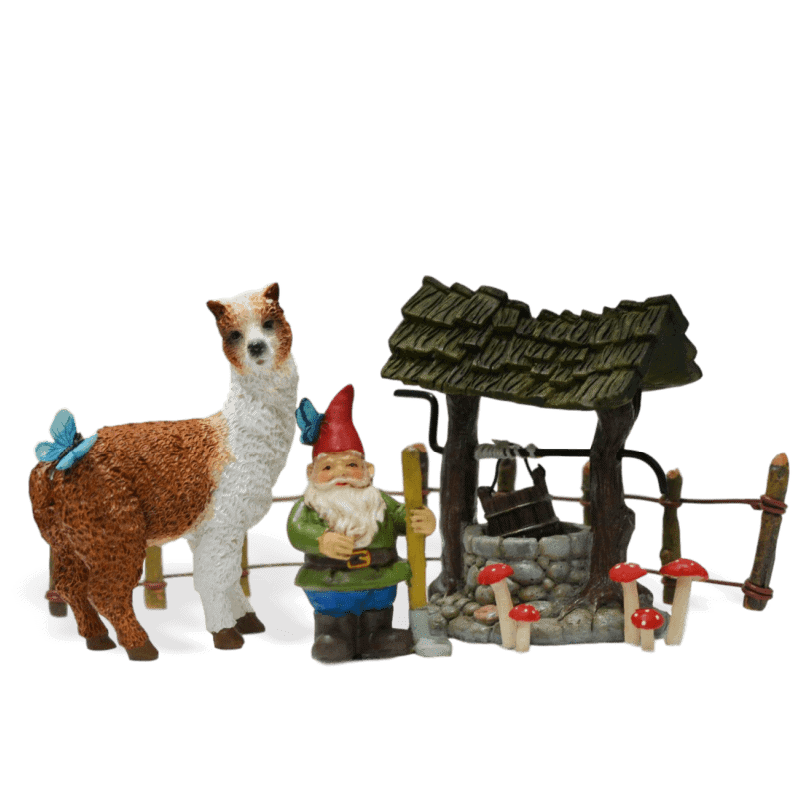 Farmers Llama Fairy Garden Kit